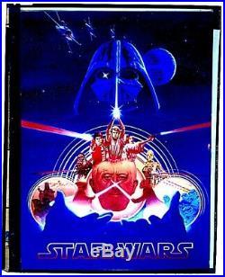Star Wars 1977 Movie Poster Art Acetate Transparency 20th Century Fox Studio COA