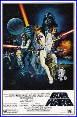 Star Wars 1977 Movie Poster Canvas Wall Art Film Print Sc-Fi 70s Princess Leia