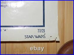Star Wars 1977 Original 1 Sheet Movie Poster Style A Carrie Fisher Harrison Ford