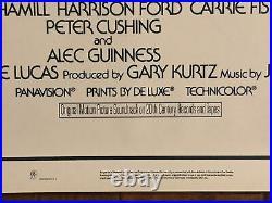 Star Wars 1977 Original 1st Printing Mint Rolled 1sheet Movie Poster Lucas
