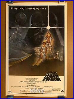 Star Wars 1977 Original 20th Century-fox Style A Mint Rolled Movie Poster Rare