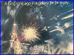 Star Wars 1977 Original 22 X 28 Half Sheet Movie Theater Poster