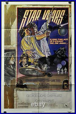 Star Wars 1977 Original 27x41 Near Mint Nss Style D Movie Poster Harrison Ford