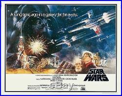 Star Wars (1977) Original Half-sheet Movie Poster Style B Rolled Mint