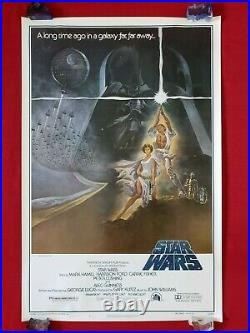 Star Wars 1977 Original Movie Poster 1sh Style A 77/21-0 Rare First Printing