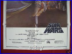 Star Wars 1977 Original Movie Poster 1sh Style A Vintage The Last Jedi Nm C9