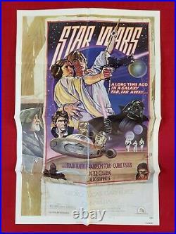 Star Wars 1977 Original Movie Poster 1sh Style D Darth Vader Skywalker Nm-m