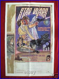 Star Wars 1977 Original Movie Poster Authentic Style D Darth Vader Halloween