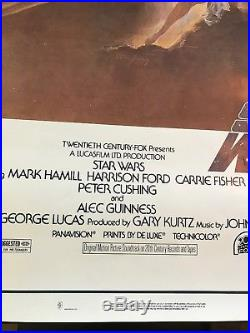 Star Wars 1977 Original Movie Poster One Sheet 27x41 1st Print Style A 77/21-0
