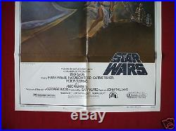 Star Wars 1977 Original Movie Poster Style A First Print 77/21-0 Force Awakens