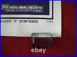 Star Wars 1977 Original Movie Poster Style B Teaser 77/21-0 Authentic Gau Nm C9