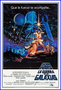 Star Wars (1977) Original Spanish Movie Poster Folded Hildebrandt Artwork