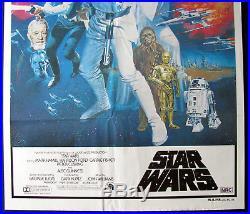 Star Wars 1977 Style C Original Australian One Sheet Movie Poster