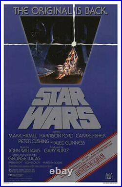 Star Wars (1977) original movie poster rerelease 1982 single-sided rolled