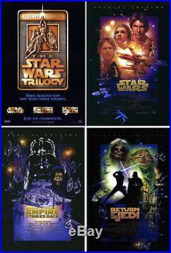 Star Wars (1977) set of 4 original movie posters R 1997 intl. Ds rolled