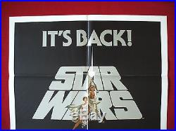 Star Wars 1981 Original Movie Poster Authentic Nss Re-release Of 1977 Classic