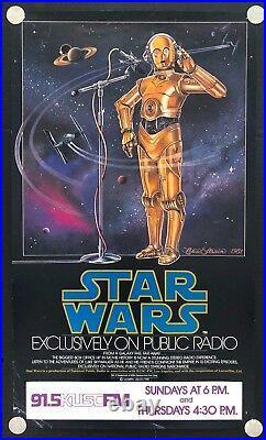 Star Wars 1981 Original NPR Poster (17 x 29) Star Wars Radio Drama C3PO