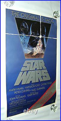 Star Wars 1982 US 1 Sheet Re-Release Movie Poster Rolled Vintage/Original 27x41