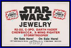 Star Wars 1st RELEASE 1977 FACTORS INC JEWELRY Store Display MOVIE POSTER