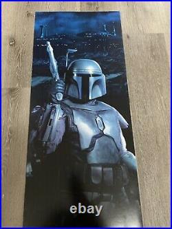 Star Wars 2002 Jango Fett Rare 15x48 Door Panel Movie Poster Unlock The Saga