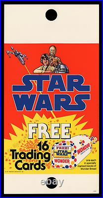 Star Wars'77 Wonder Bread Trading Card Pole Sign & Shelf Talker Poster Display