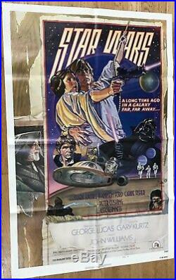 Star Wars A New Hope 1977 style D 1 sheet poster Original NSS-issued 1978