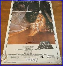 Star Wars A New Hope Signed 27x40 Poster By George Lucas K9 Holo COA Proof