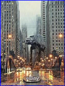 Star Wars AT-AT Movie Poster Canvas Wall Art Film Print Sc-Fi War scene Vadar