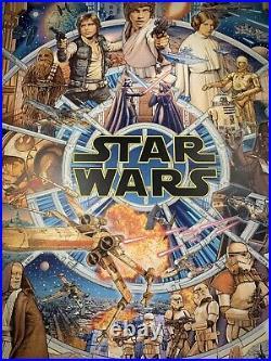 Star Wars An Epic Saga By Ise Ananphada Art Print Movie Poster MONDO XX/425