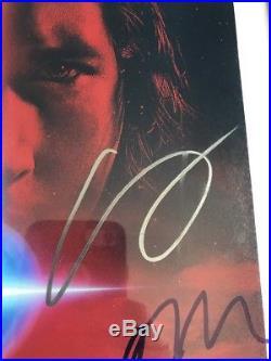 Star Wars Cast Signed 11x14 Poster Mark Hamill Boyega Gwendoline Jsa Loa Psa