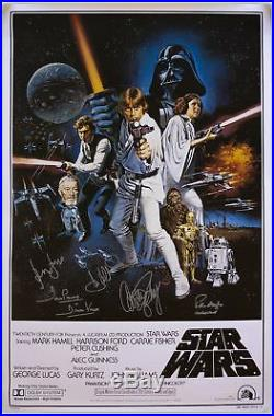 Star Wars Cast-Signed Movie Poster Celeb Auth COA's