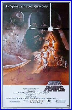 Star Wars Cast Signed Movie Poster Celebrity Authentics COA Carrie Fisher H Ford