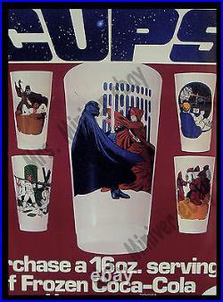 Star Wars Cups FROZEN COKE'77 AMAZINGLY RARE Coca Cola ADVERTISING Movie Poster