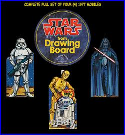 Star Wars DRAWING BOARD CEILING HANGER STORE DISPLAY MOVIE POSTER MOBILE SET