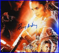 Star Wars Daisy Ridley Signed Poster Framed Force Awakens PSA Steiner COA