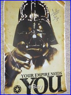Star Wars Darth Vader David Prowse Autographed Signed Poster Exact Signing Proof