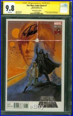 Star Wars Darth Vader Down 1 CGC 9.8 SS Stan Lee Vienna Movie Poster Variant