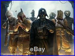 Star Wars Darth Vader Movie Poster Canvas Wall Art Film Print Sc-Fi Boba Fett