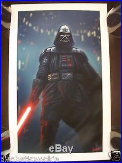 Star Wars Darth Vader Sith Lithsaber Empire Back art print movie poster mondo