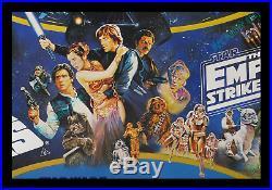Star Wars EMPIRE STRIKES BACK Return Of The Jedi 1983 BRITISH QUAD MOVIE POSTER