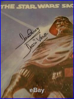 Star Wars ESB cast signed poster carrie fisher kenny baker Jeremy bulloch ++++