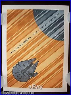 Star Wars Empire Millennium Falcon travel poster Han Solo art print movie poster