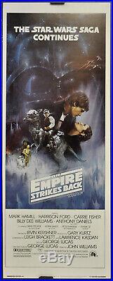 Star Wars, Empire Strikes Back 1980 Orig 14x36 Gwtw Movie Poster