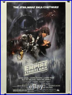 Star Wars, Empire Strikes Back 1980 Orig 30x40 Gwtw Movie Poster Harrison Ford