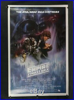Star Wars Empire Strikes Back 1980 Original One Sheet Movie Poster GWTW Rolled
