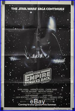 Star Wars, Empire Strikes Back 27x41 Advance Nm Movie Poster 1980 Harrison Ford