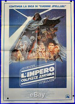 Star Wars, Empire Strikes Back, 39x55 2-foglio Italian Movie Poster 1980