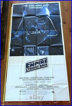 Star Wars, Empire Strikes Back 41x81 3-sheet Movie Poster 1980 Harrison Ford
