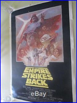 Star Wars Empire Strikes Back Episode V Original Us One Sheet Movie Poster 1981