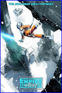 Star Wars Empire Strikes Back Reg Mondo Alternative Movie Poster by Jock #/2575